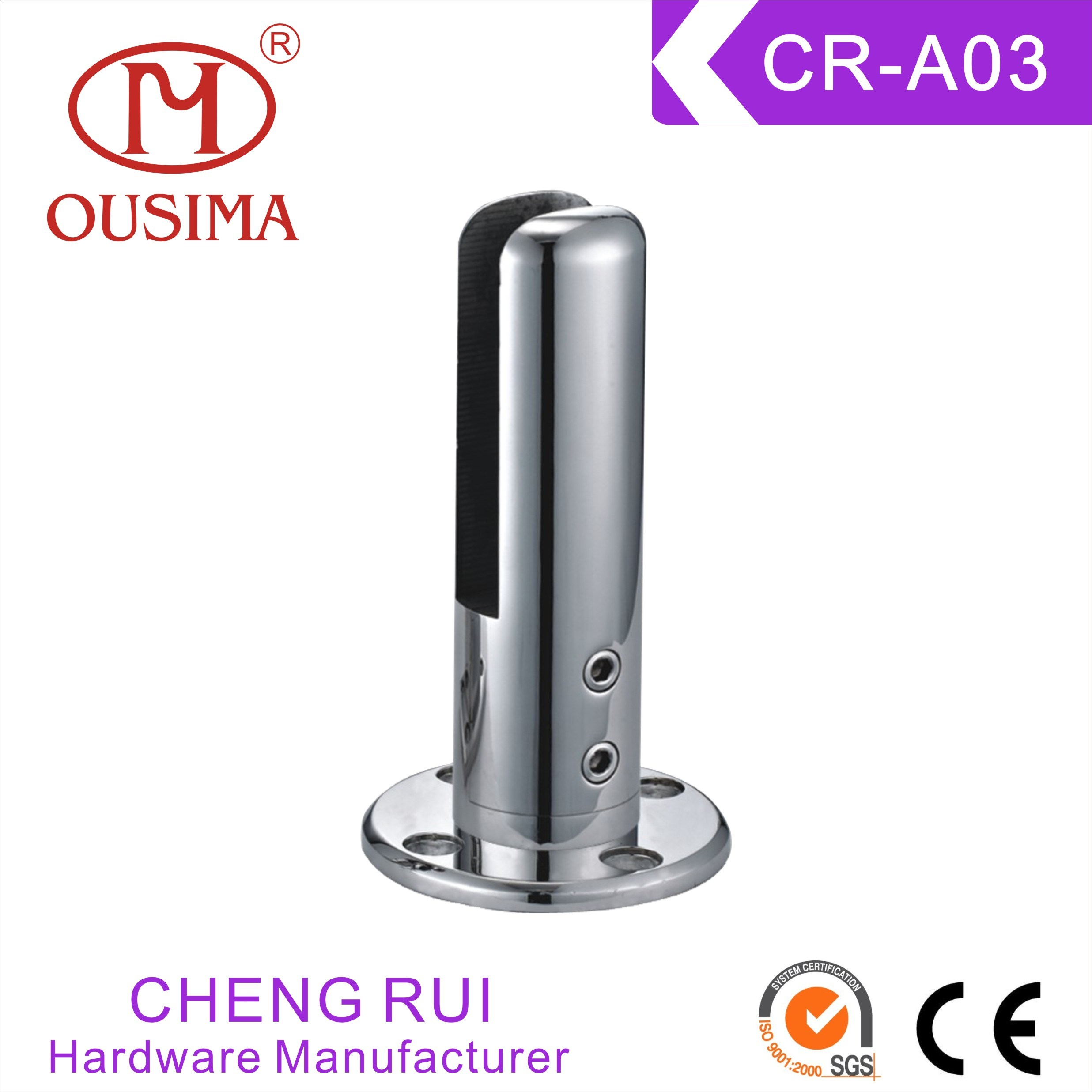 Farmeless Glass Balustrade Stainless Steel Spigot Used in Swimming Pool or Fence (CR-A03)