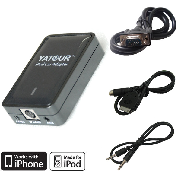 Car Adapter for BMW VW Audi Toyota Honda Hyundai KIA for iPod iPhone (YT-M05)