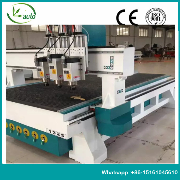 Multihead CNC Router for Furniture Cutting Boring Trimming
