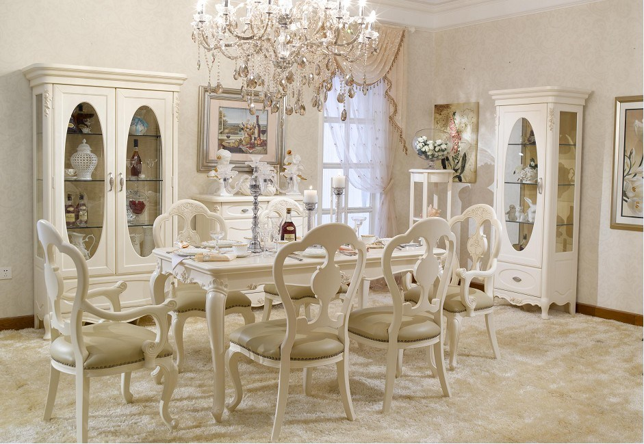 New trend home interior country style dining room furniture for Dining room in french