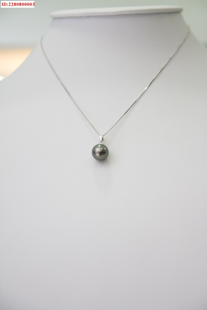china one pendant black pearl necklace aaa china