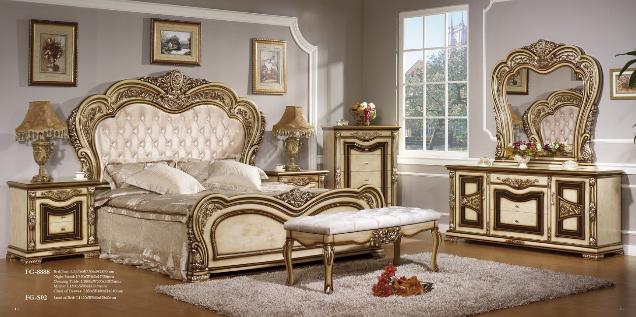 Style Bedroom Set Furniture FG 8888 China Furniture Bedroom Set