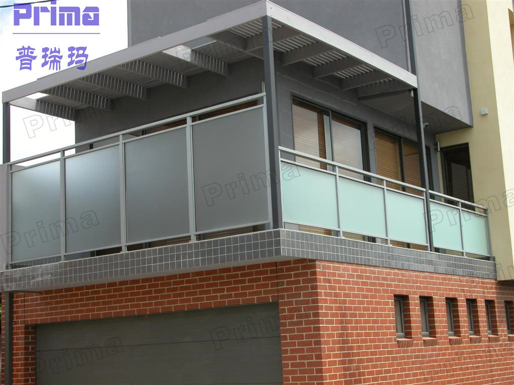 China glass handrail glass balustrade balcony handrail for Balcony steel railing designs pictures