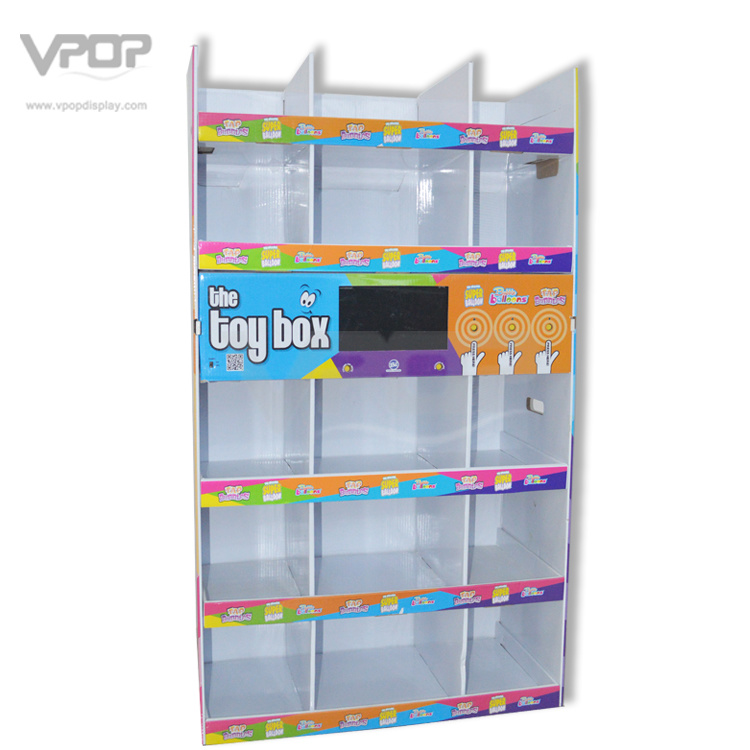 War-Mart Half Pallet Display with LCD Screen for Toys