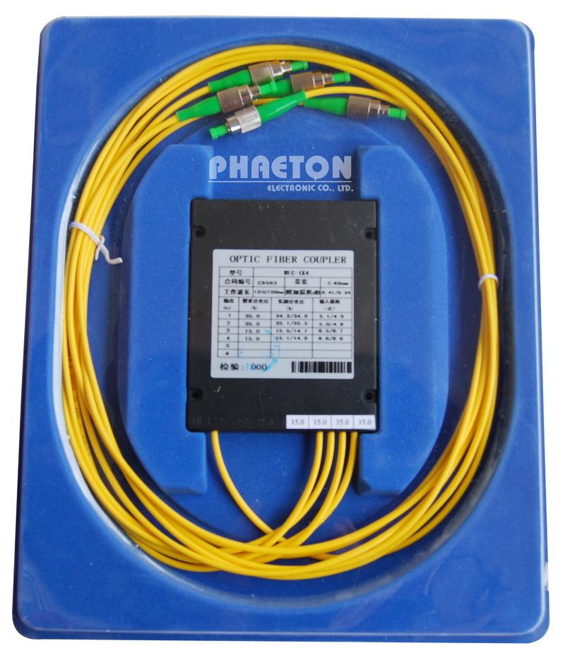 Coupler in optical fiber