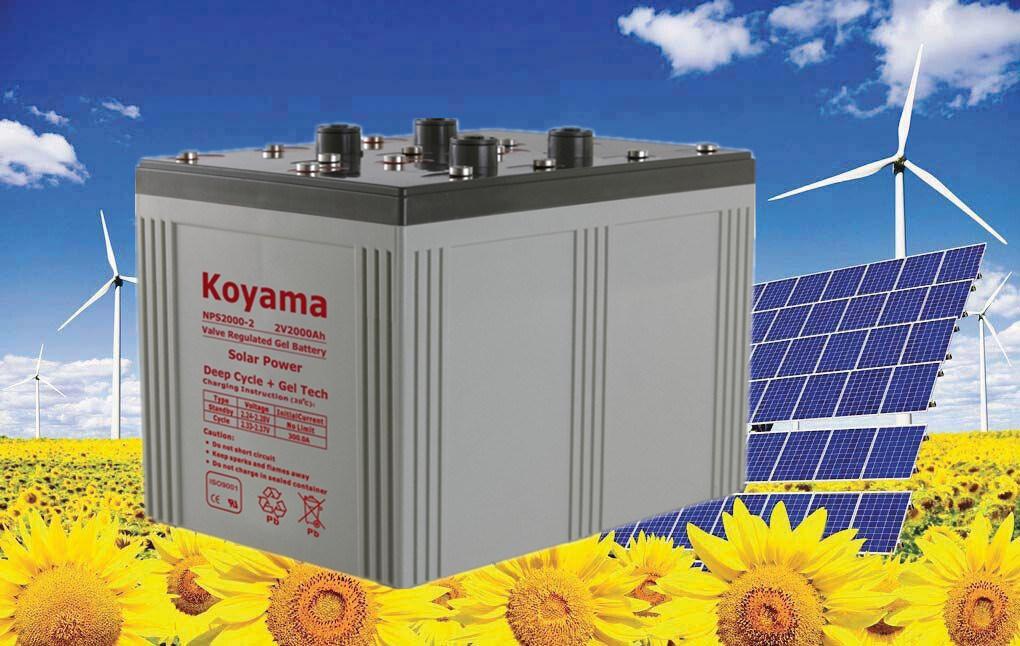 Big Size Long Life 2V 1500ah Solar System Gel Battery