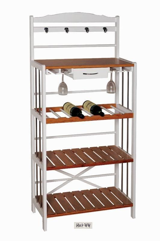 Trolley Wine Rack Hx1 3131 China Wooden Kitchen Cabinet Wine Rack
