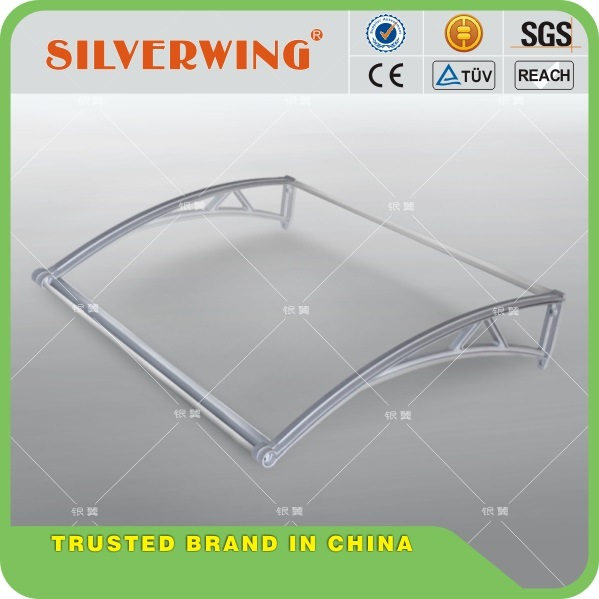 New Design Polycarbonate PC Door Canopy Awning with Water Gutter