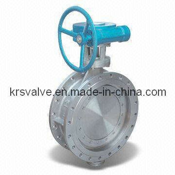 Metal Seal Triple Eccentric Double Flange Butterfly Valve (D343H)