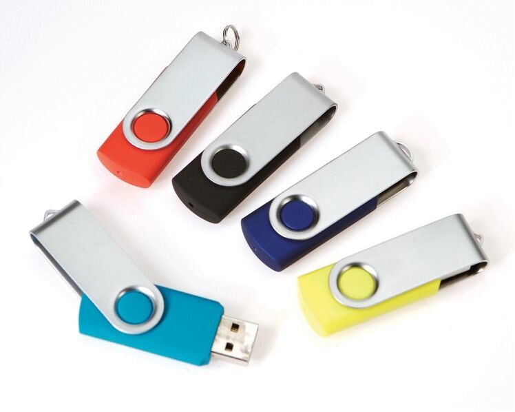 Top Promotion Gift Swivel USB Flash Drive 1GB-32GB USB 2.0 & USB 3.0 (OM-P120)