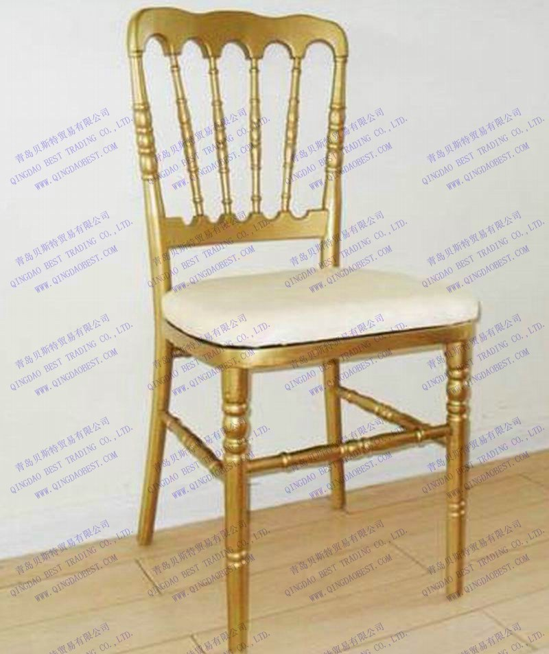 china gold wedding napoleon chair with cushion china