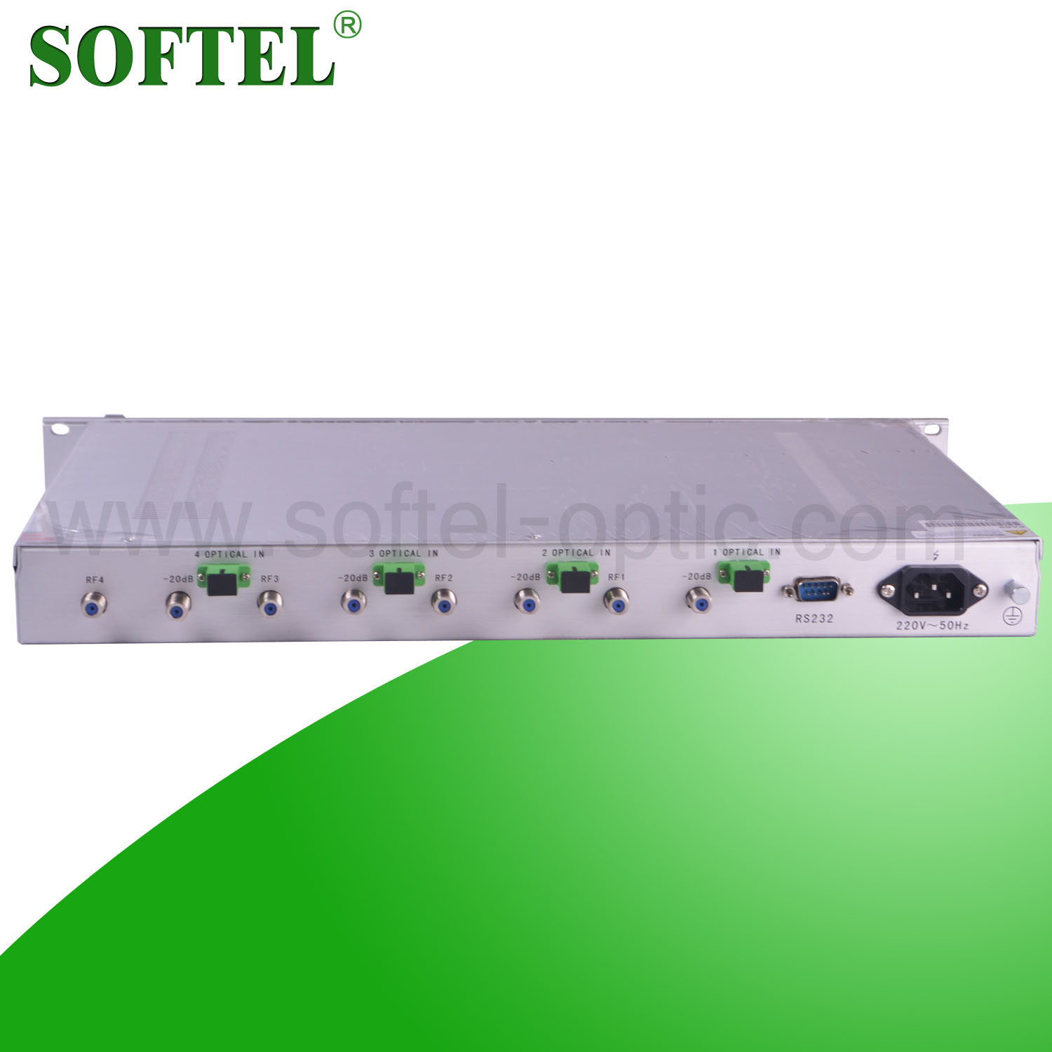 4way Return Path Optical Fiber Receiver