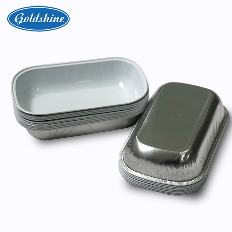 Aluminium Foil Airline Food Packaging Container Lunch Box