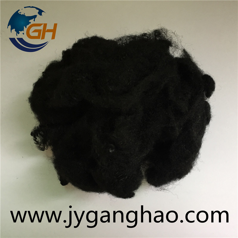 Polyester Staple Fiber in Black