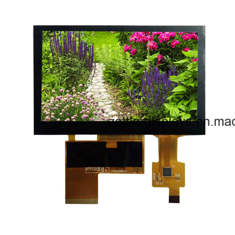 "Sun Readable 4.3"" TFT Display High Brightness, with Capacitive Touch Panel: ATM0430d12m-CT"