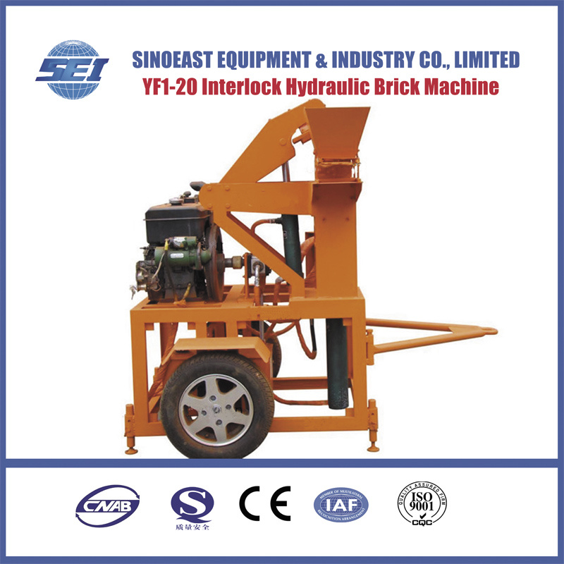 Sei1-20 Mobile Hydraulic Clay Interlocking Brick Machine