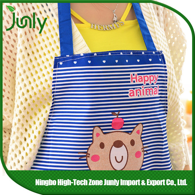 Custom Household Waterproof Printed Polyester Cooking Kitchen Apron