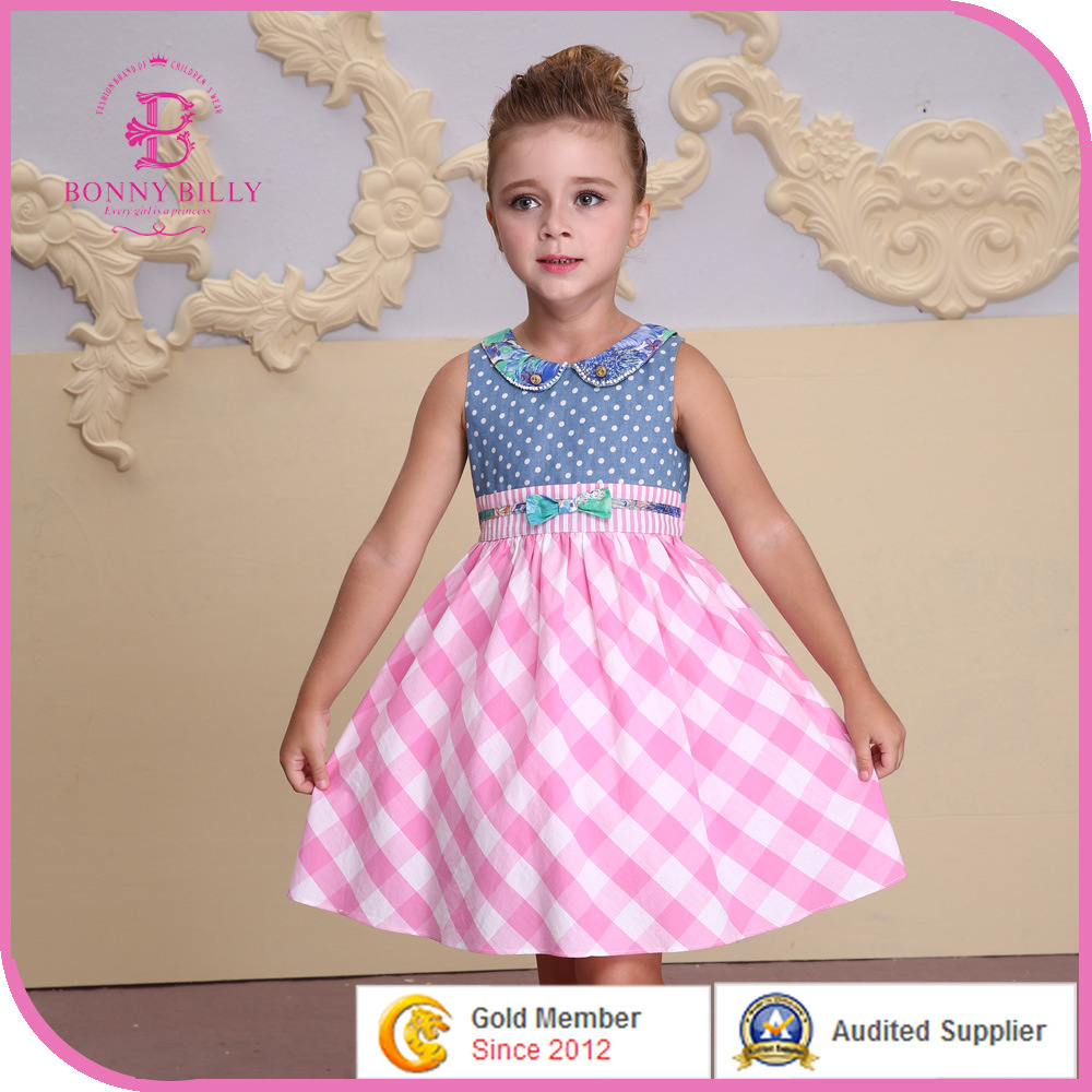 China 2015 gymboree girls dresses frock design for baby girl photos
