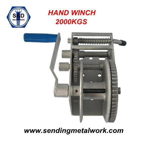 2000kg Hand Winch Strap/Webbing/ Rope 3speed- Boat Car Marine Trailer