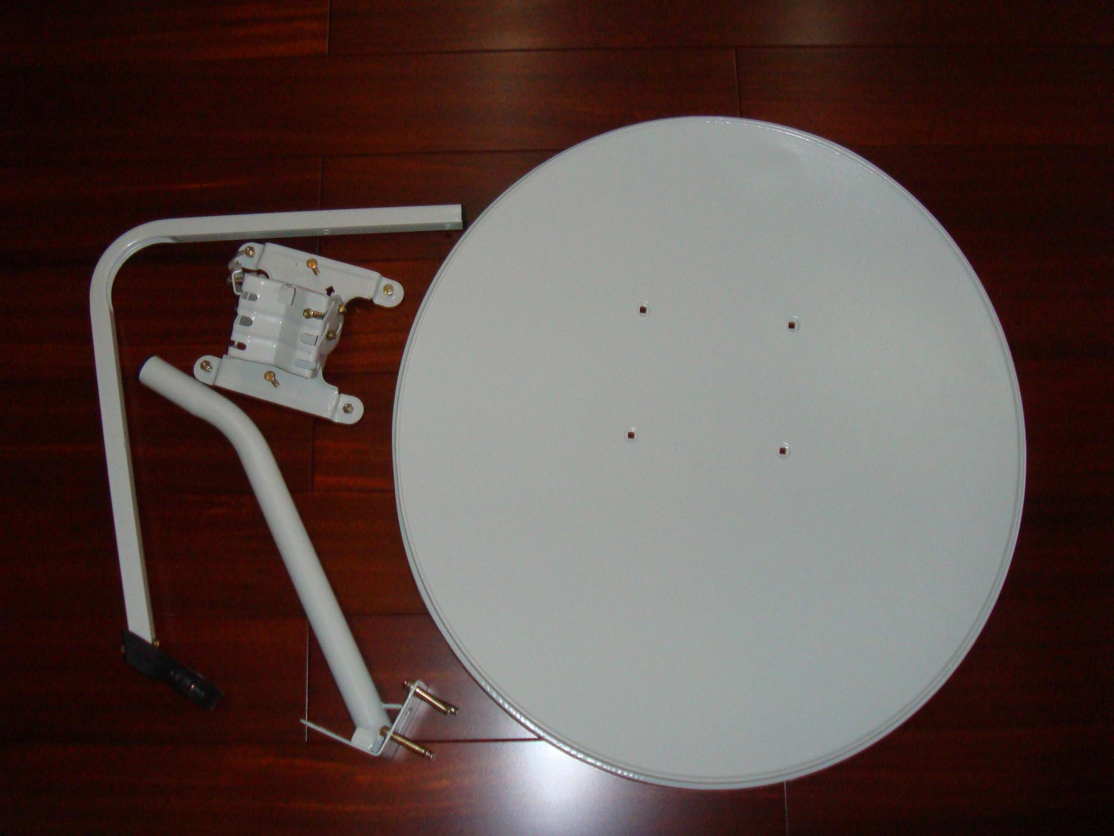 Ku-Band Satellite Antenna 75cm with Wall Mount