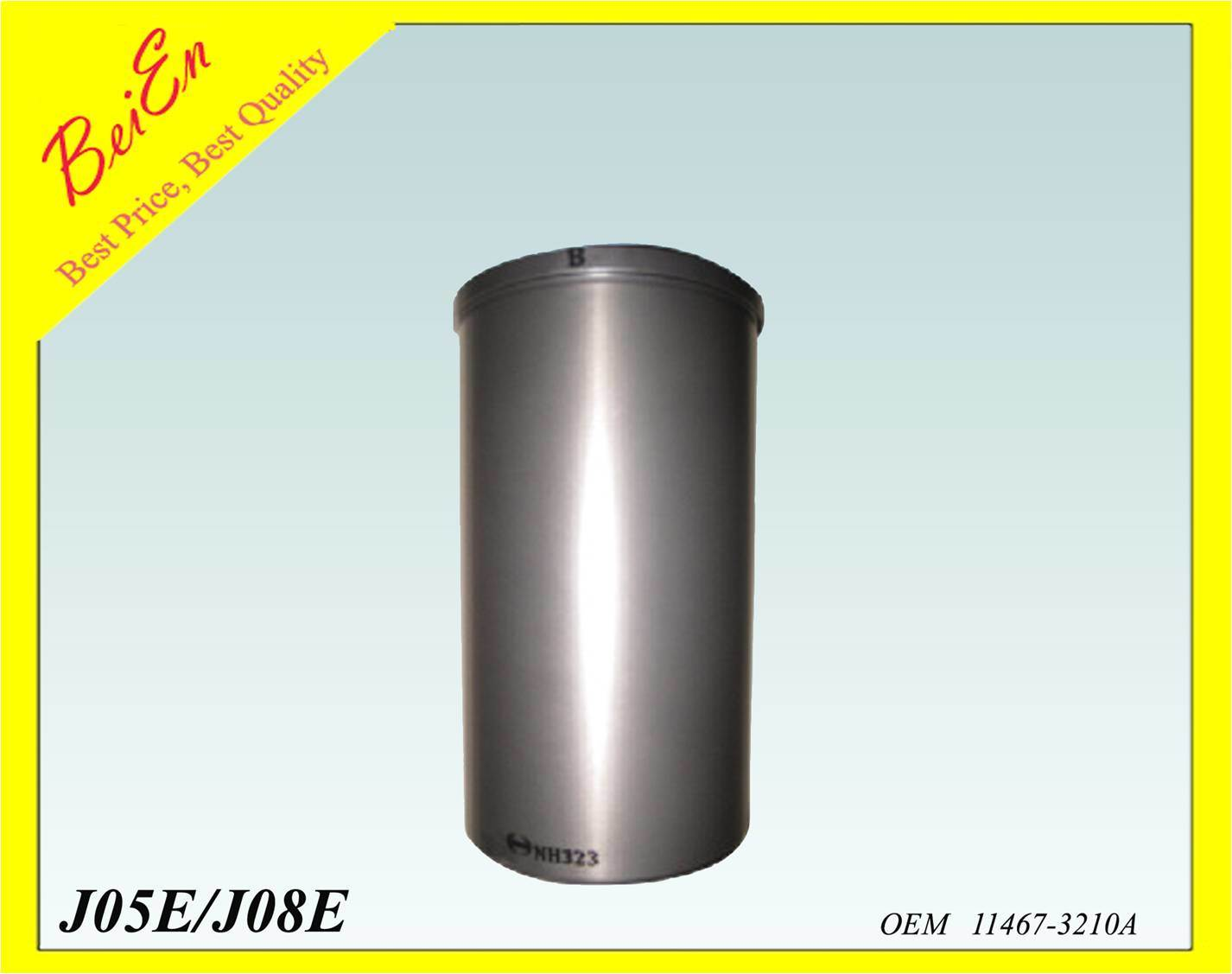 Cylinder Liner for Excavator Engine J05E/J08E (Part number: 11467-3210A)