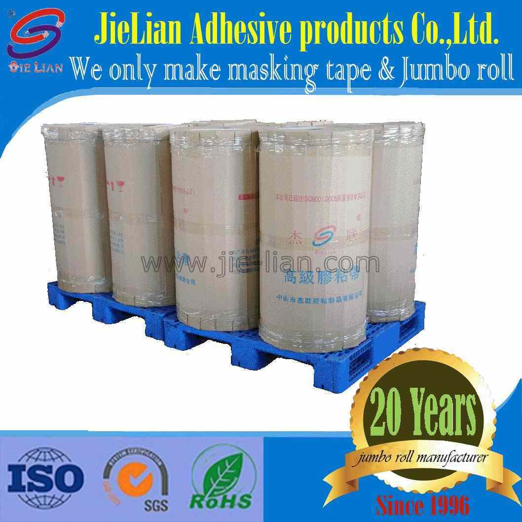 Competitive Price Jumbo Roll Masking Tape with High Quality Free Sample From China Factory