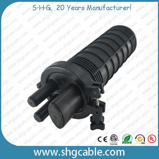 Mini Size 24 Splices Heat Shrink Fiber Optical Splice Closure