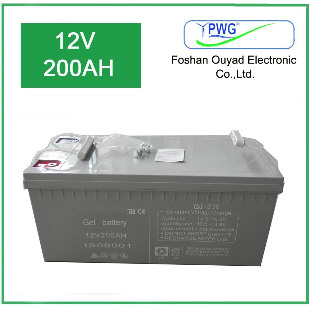 Factory Price of 12V 200ah Solar Storage Power Battery Solar Battery