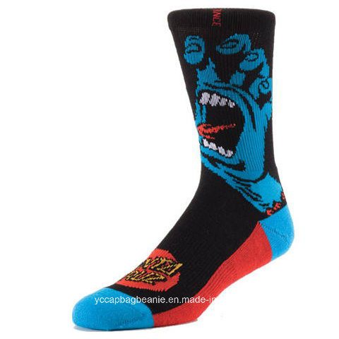 High Quality Cotton Sport Jacquard Knee High Socks
