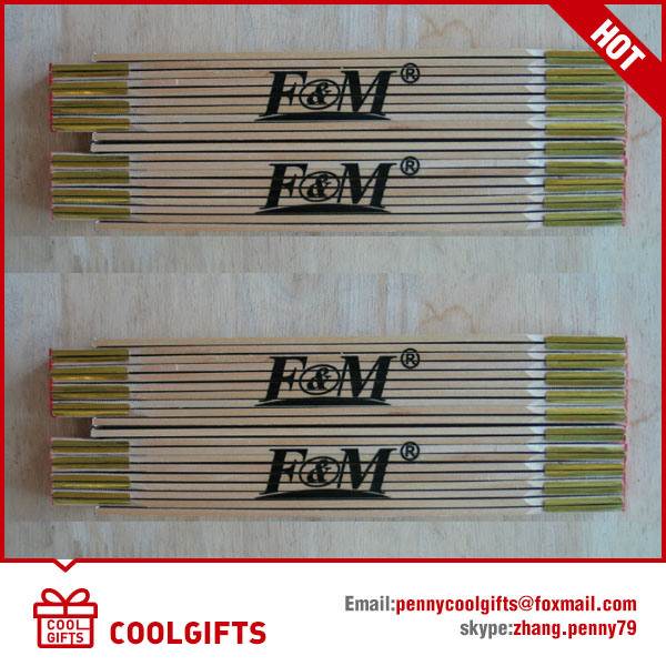 2m 10 Folds Wooden Folding Gift Ruler for Promotion