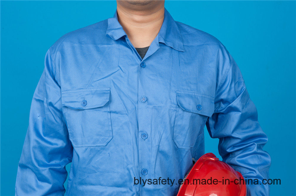 High Quality Safety 65% Polyester 35%Cotton Long Sleeve Work Clothes (BLY2004)