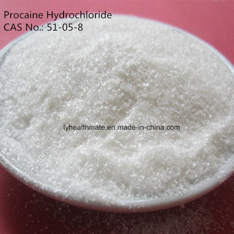 99.98% Procaine Hydrochloride, Procaine HCl, 51-05-8