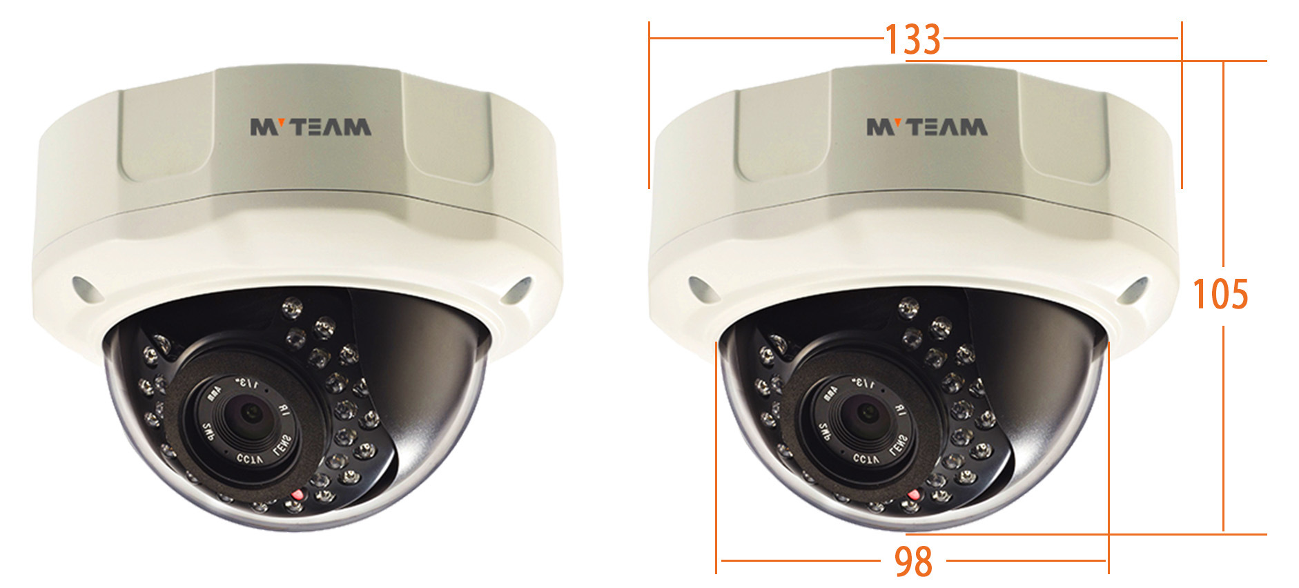 Hot New Sell 1.0 Megapixel 720p Cheap Megapixel Dome CCD Camera FCC, CE, RoHS Certification Mvt-Tan26n