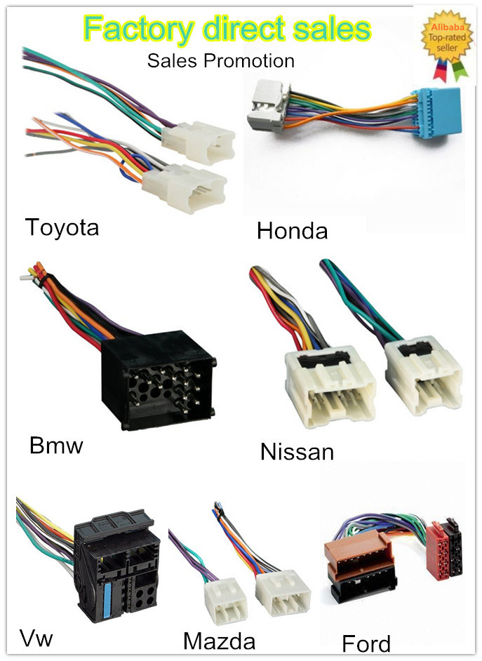 Factory Customized Nissan ISO Wire Harness for Audio