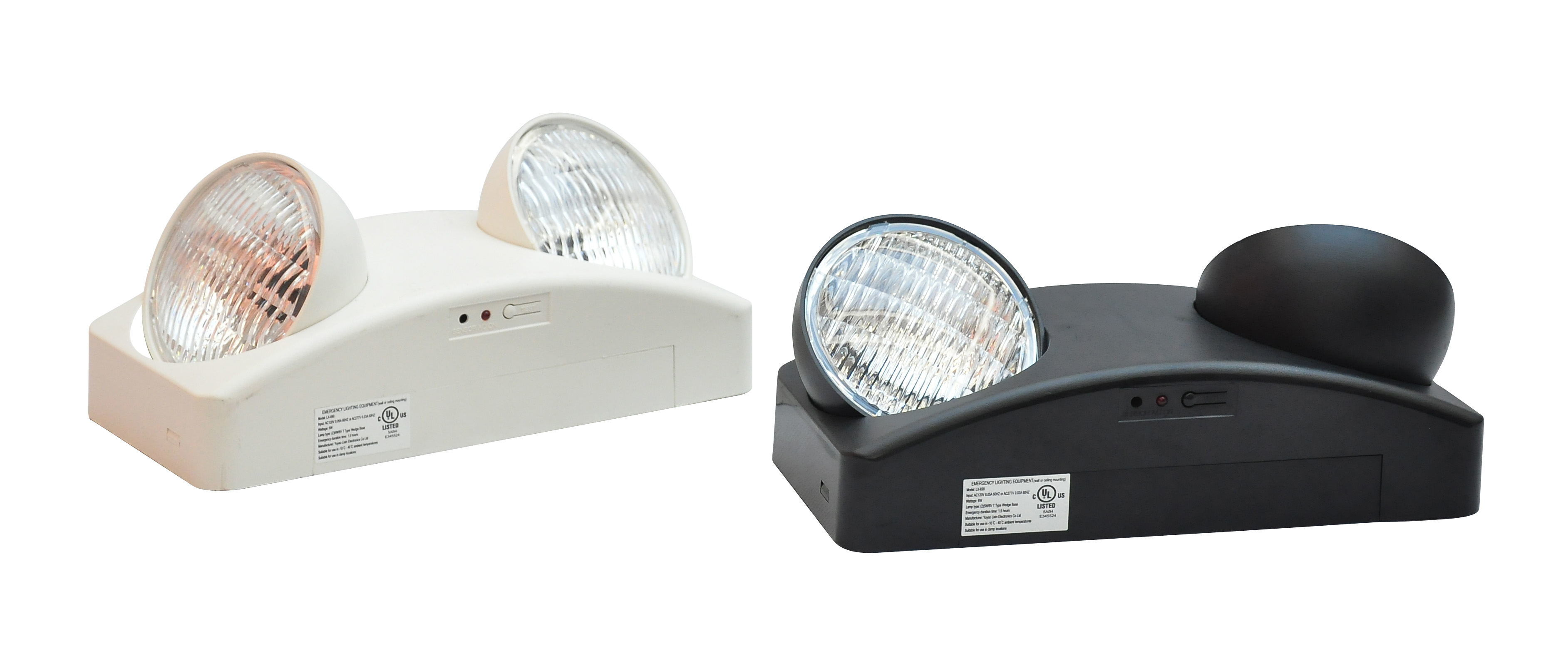 Rotary Twin Spot Battery Backup UL Listed Emergency Light