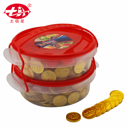 Gold Coin Chocolates Packed in Plastic Bottle