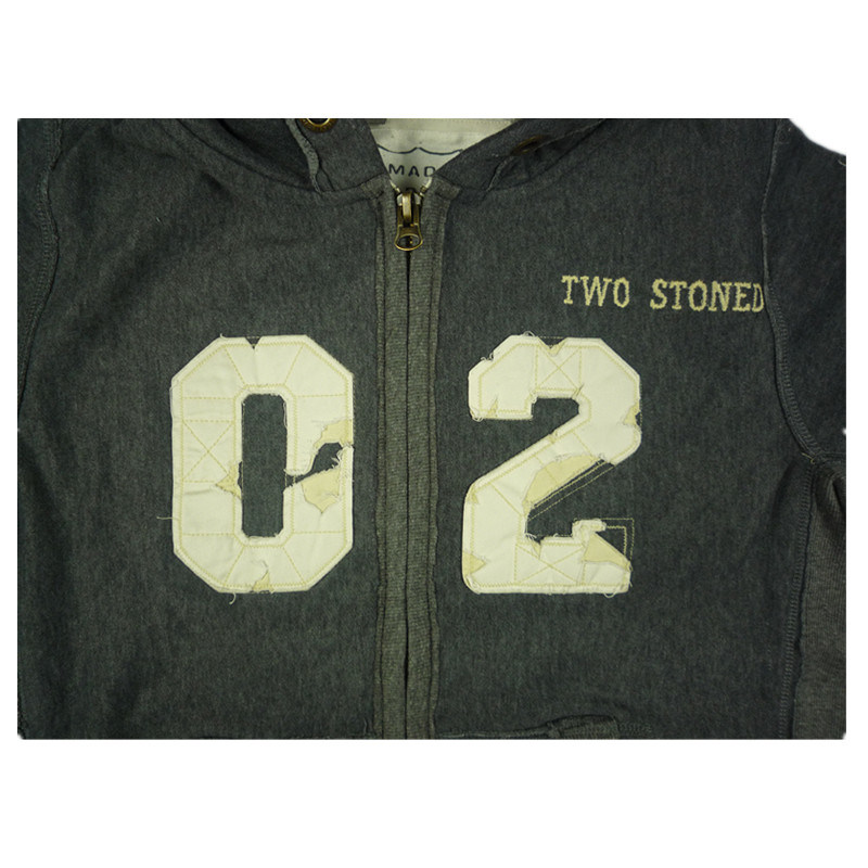 Zip-up Cardigan Hoody Sweater with Custom Screen Printing