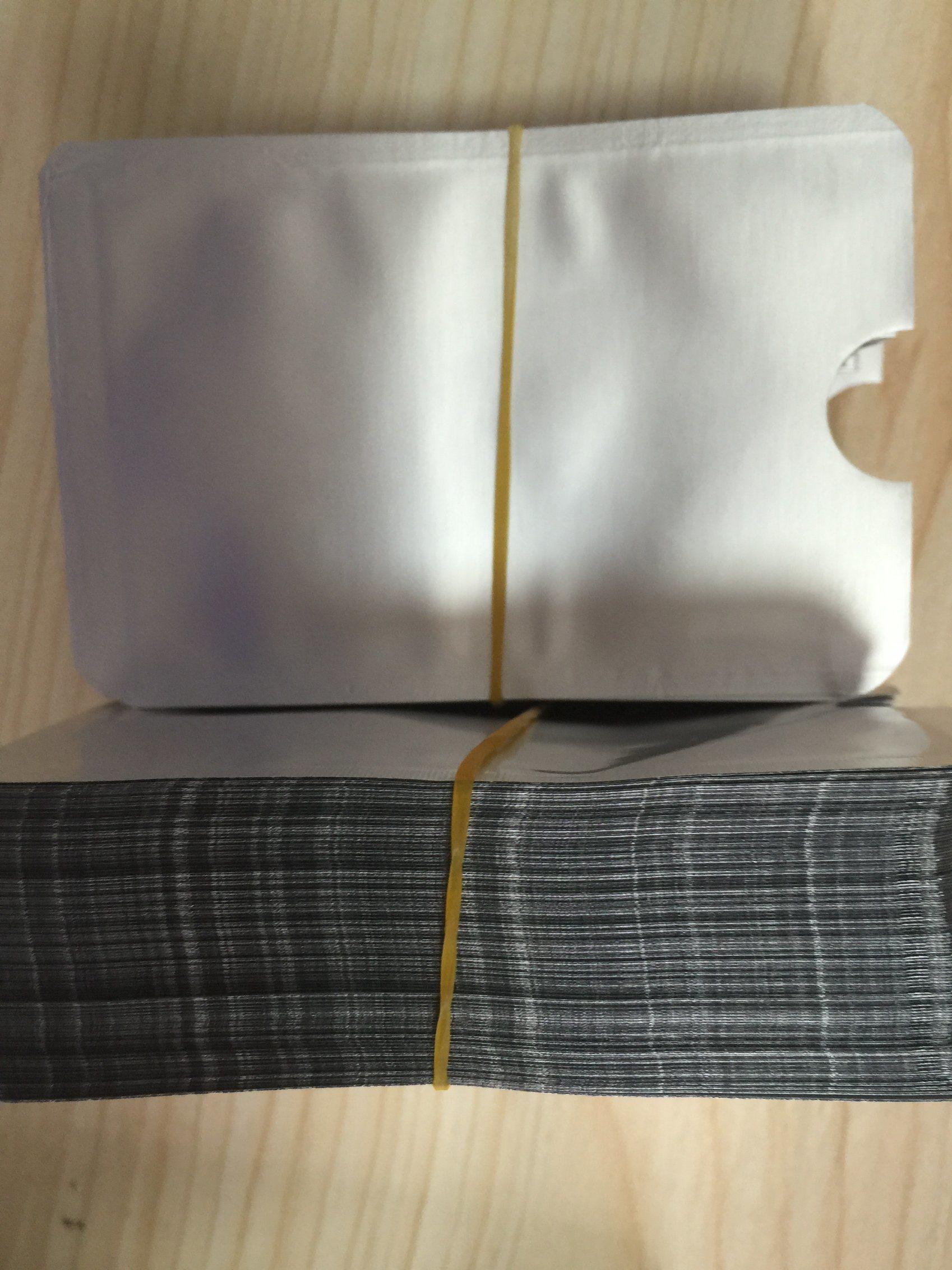 Aluminum Foil RFID Blocking Passport Holder Sleeve