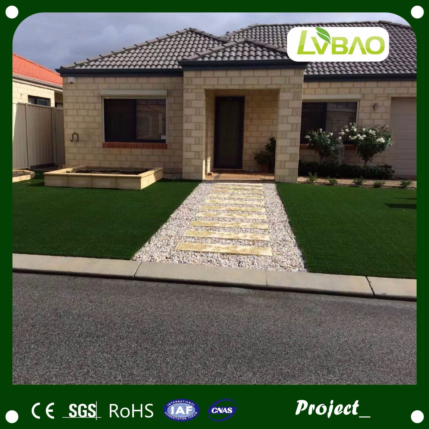 Durable UV Resistance Outdoor Artificial Synthetic Turf