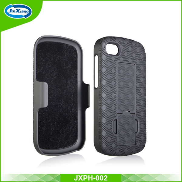 Hot Selling Wholesale Belt Clip Case Hybrid Back Sliding PC Phone Case for Blackberry Q10