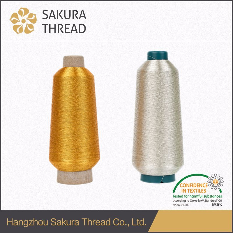 150d Pure Gold and Pure Silver Metallic Embroidery Yarn