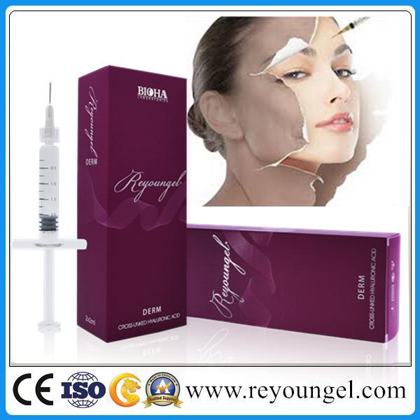 Hyaluronic Acid Dermal Filler with CE Certificates, Cross-Linked Injectable Face Use Filler