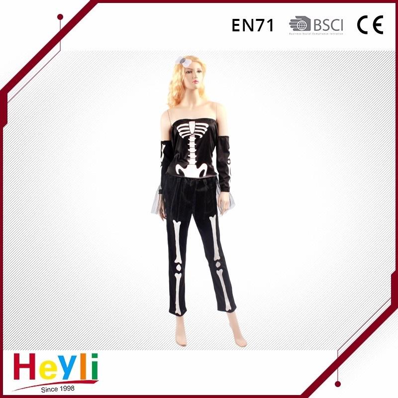 Halloween Party Skull Skeleton Dress Miss Sweetbone Cosplay Costumes