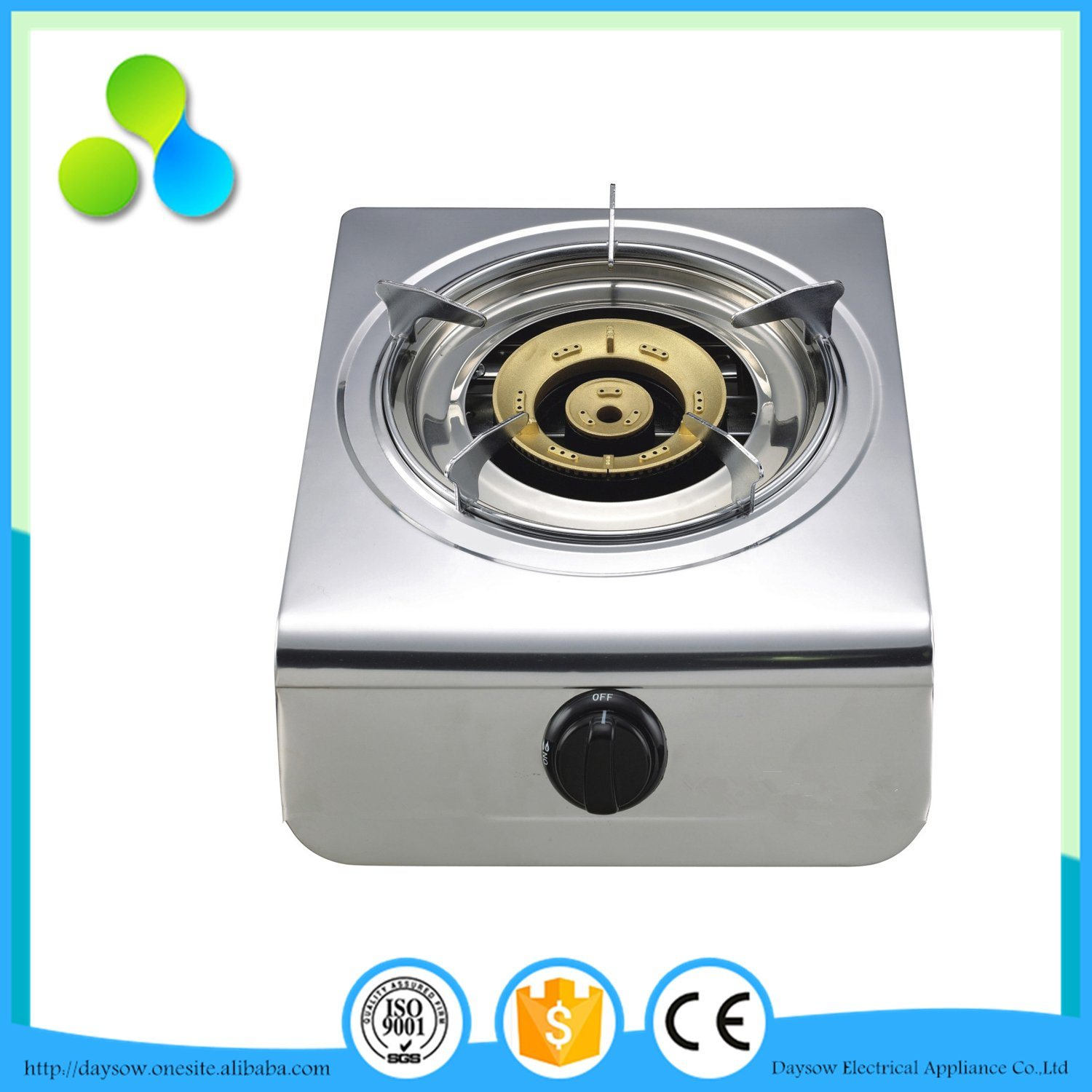 New Ignition Way S. S 4 Burners Gas Stove