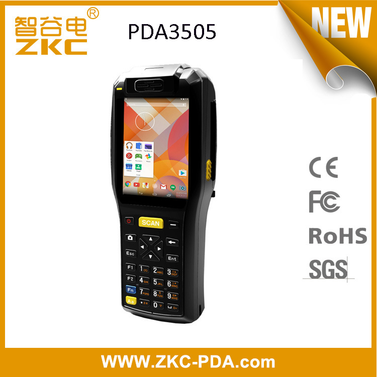 ZKC PDA3505 WiFi 3G Bluetooth Handheld Mpos Device with Pritner