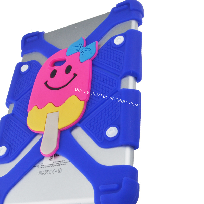 3D Cartoon Ice Cream iPad Universal Silicone Case for iPad 7 Inch - 12 Inch Cell Phone Case