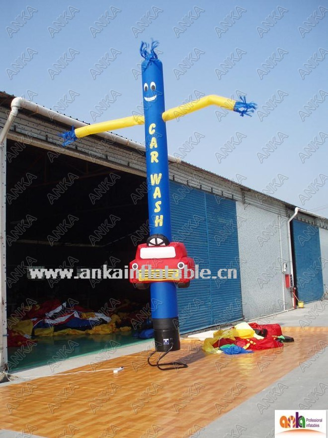 Customized Logo 20FT Air Dancer Sky Man Advertising Inflatable for Car Washing Store
