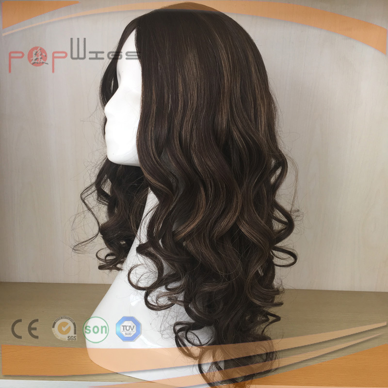 PU Custom Silk Top Human Hair Women Wig (PPG-l-0658)