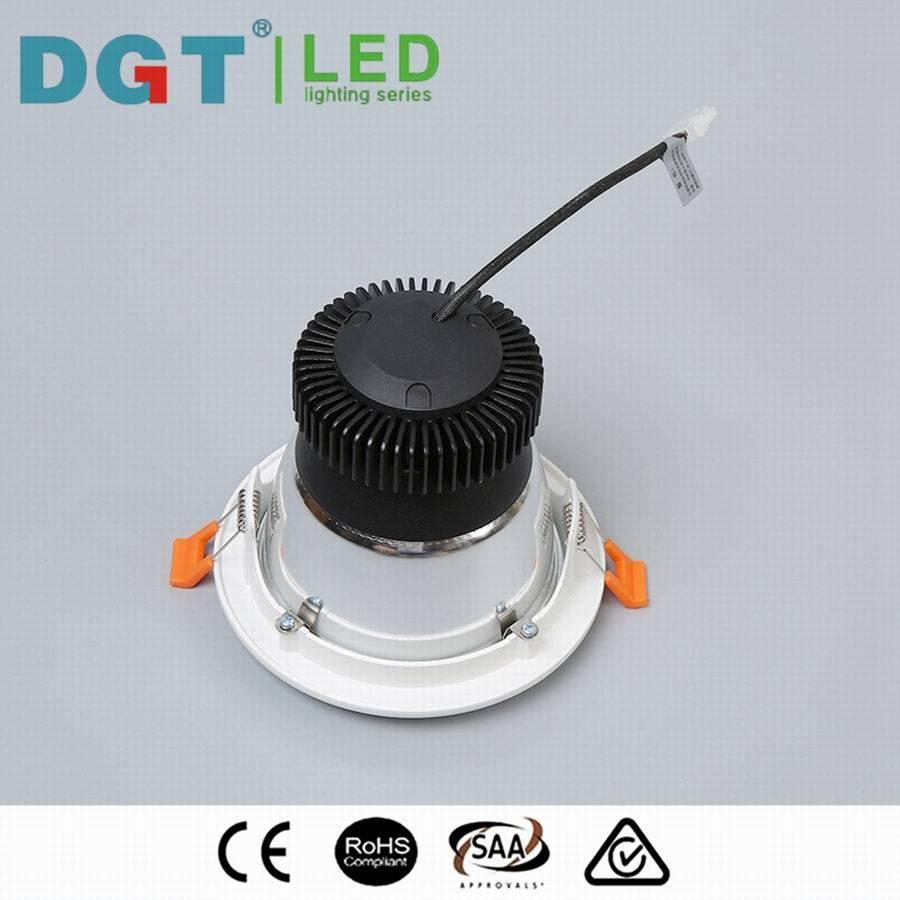 Commercial 12W Dimmable Citizen / Bridgelux LED COB Downlight