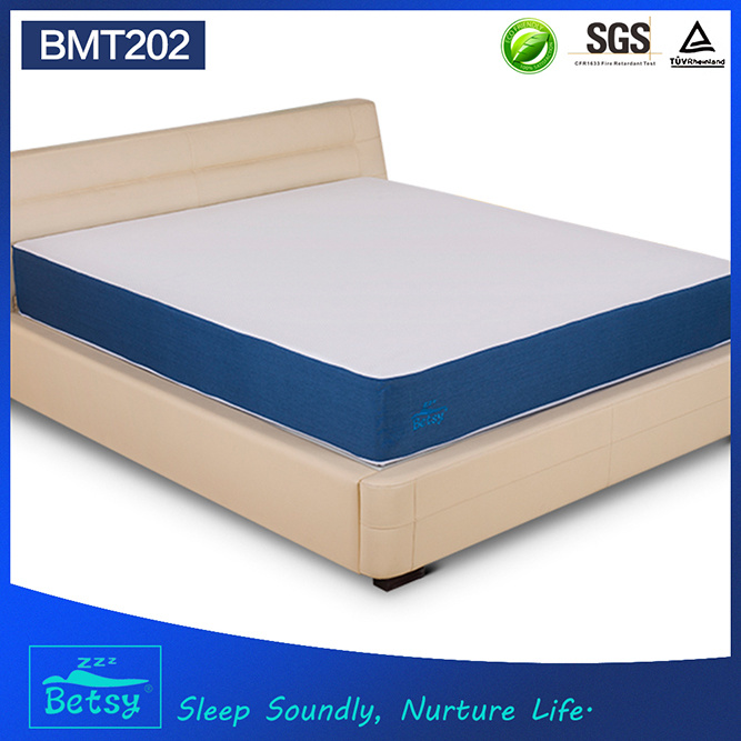 OEM Compressed Gel Memory Foam Mattress 25cm High with Knitted Fabric Detachable Zipper Cover